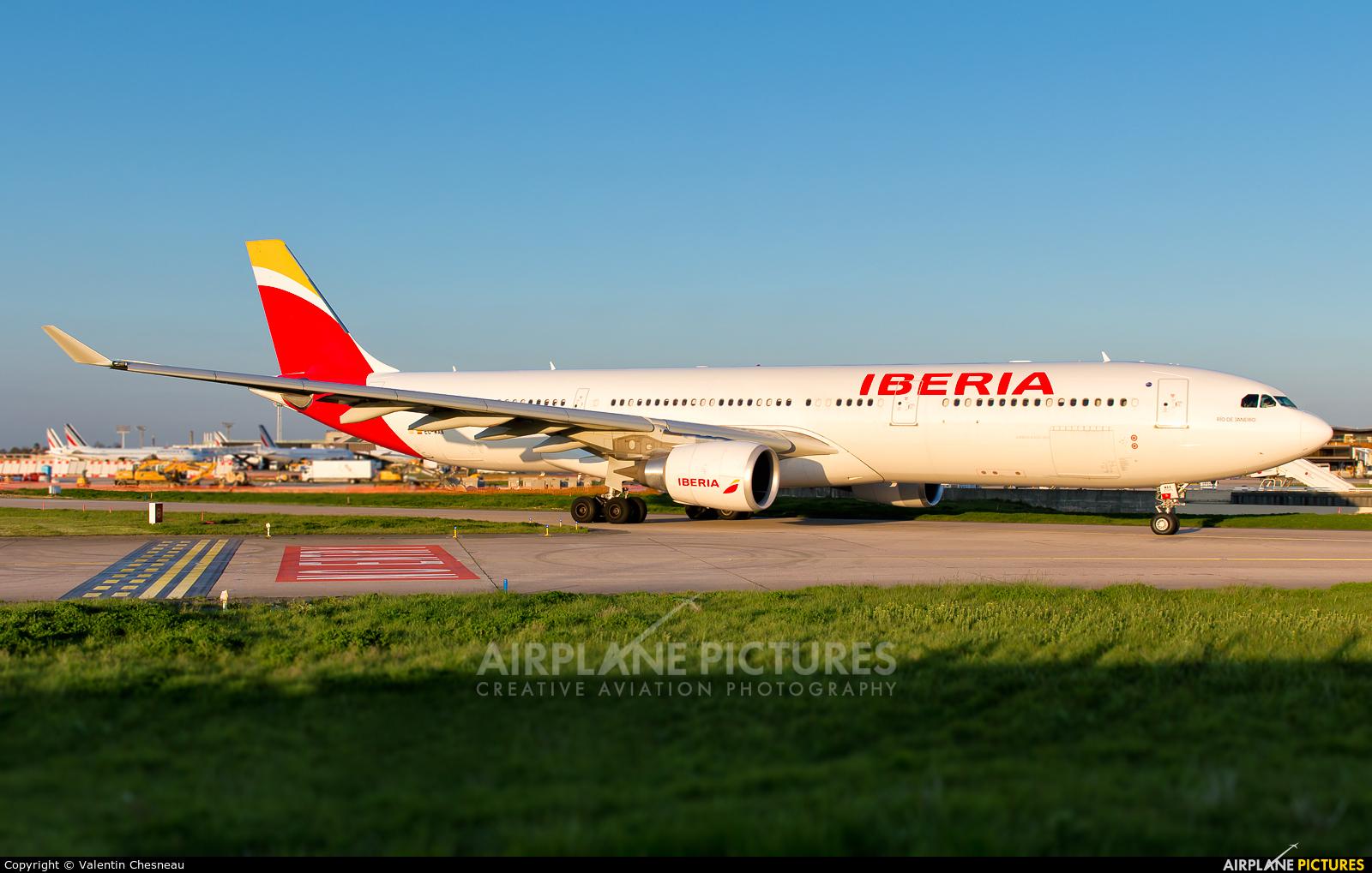 Iberia EC-MAA aircraft at Paris - Orly
