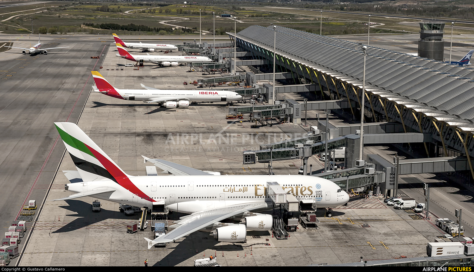 Emirates Airlines A6-EEW aircraft at Madrid - Barajas