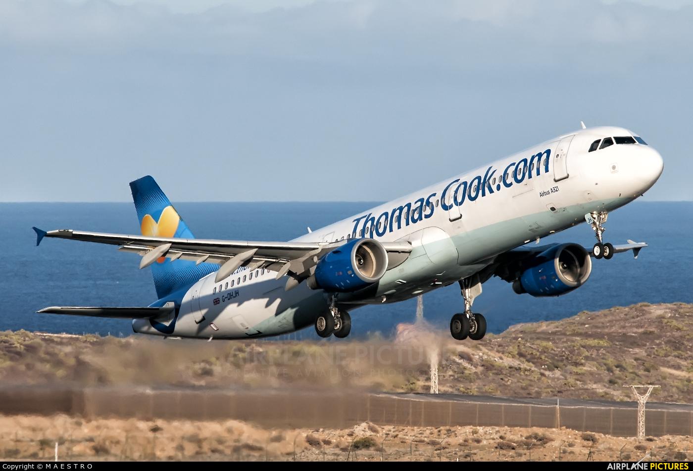 Thomas Cook G-DHJH aircraft at Tenerife Sur - Reina Sofia