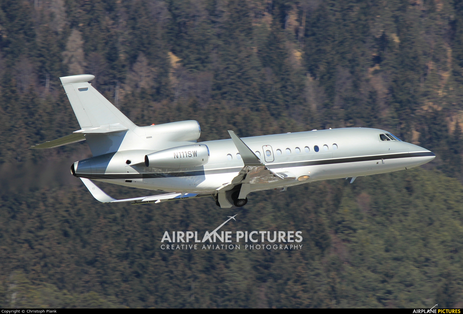 Private N111SW aircraft at Innsbruck