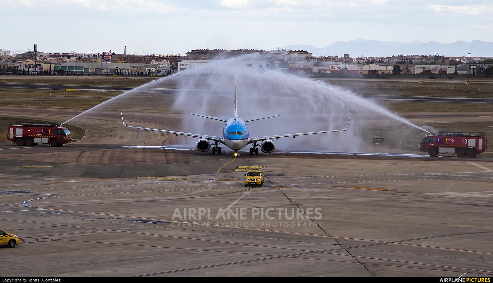 KLM PH-BGM aircraft at Valencia