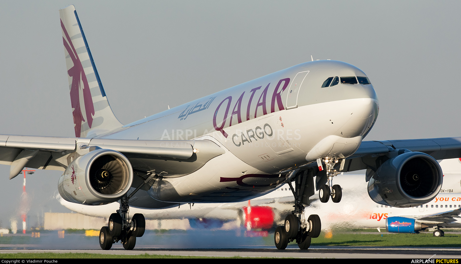 Qatar Airways Cargo A7-AFI aircraft at Prague - Václav Havel