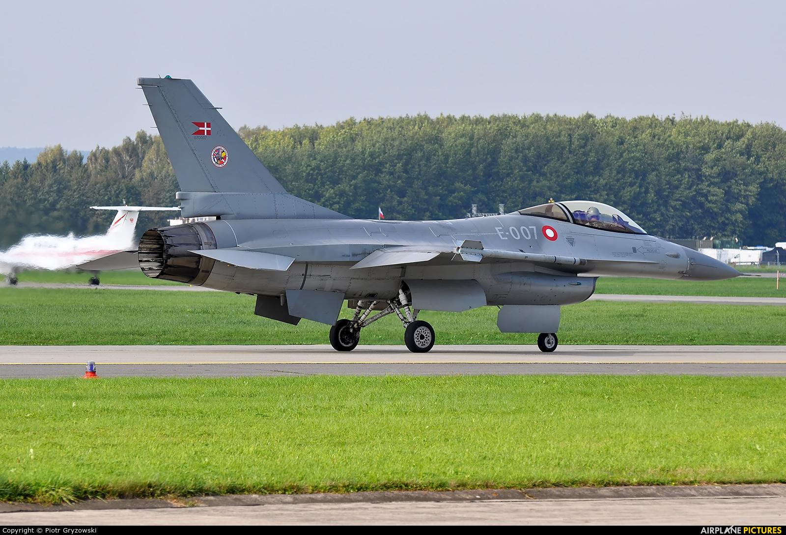 Denmark - Air Force E-007 aircraft at Ostrava Mošnov