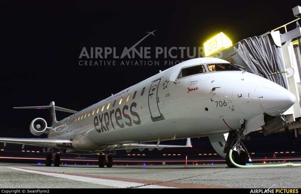 Air Canada Express C-FKJZ aircraft at Vancouver Intl, BC