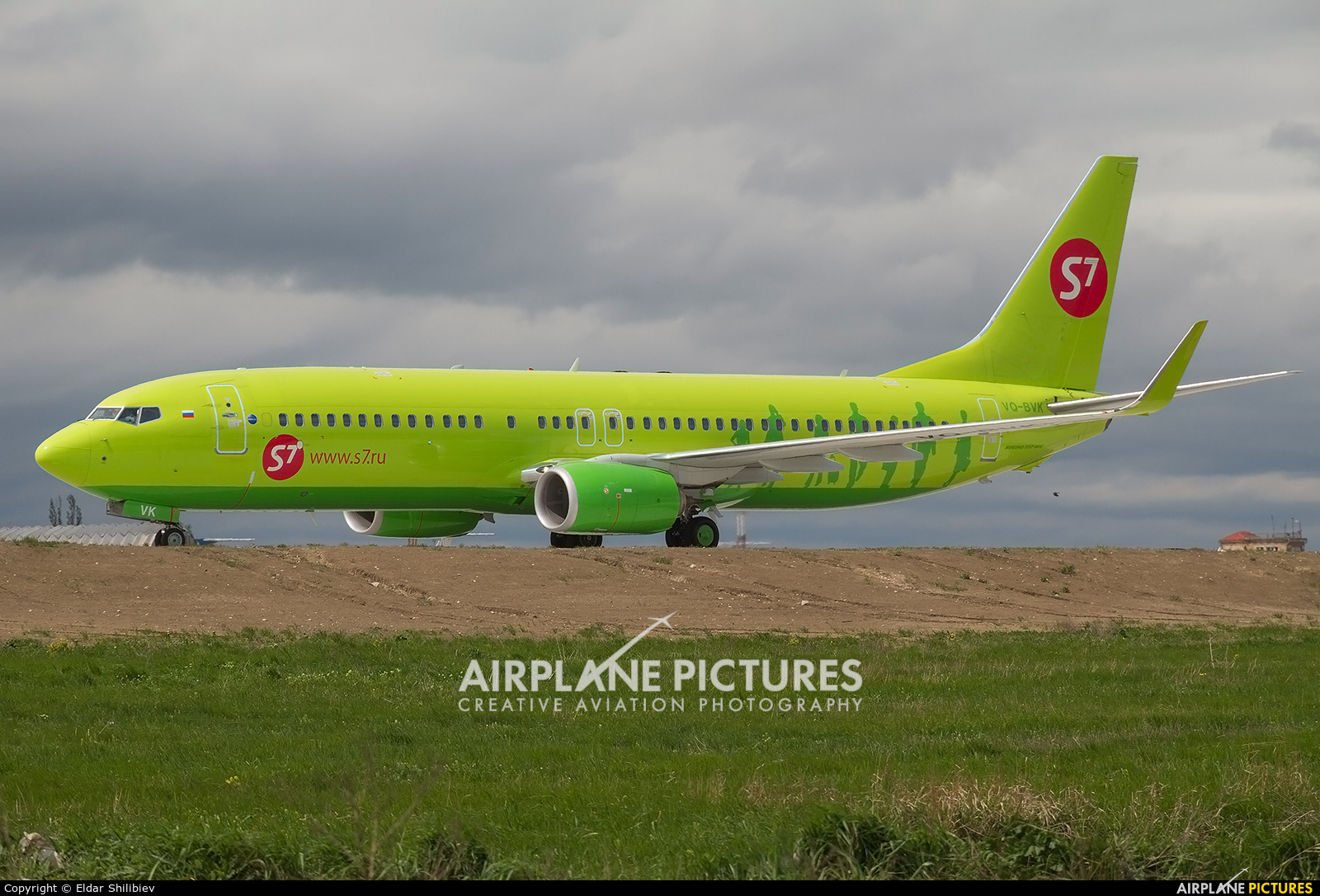 S7 Airlines VQ-BVK aircraft at Mineralnye Vody