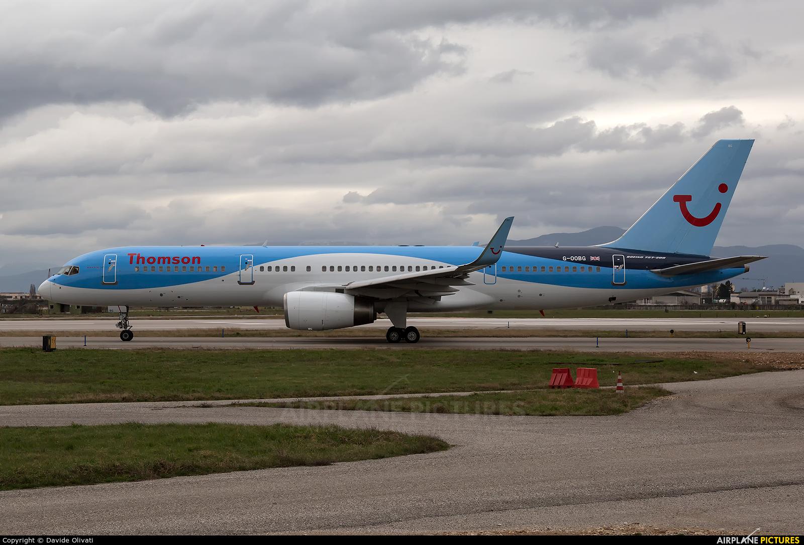 Thomson/Thomsonfly G-OOBG aircraft at Verona - Villafranca