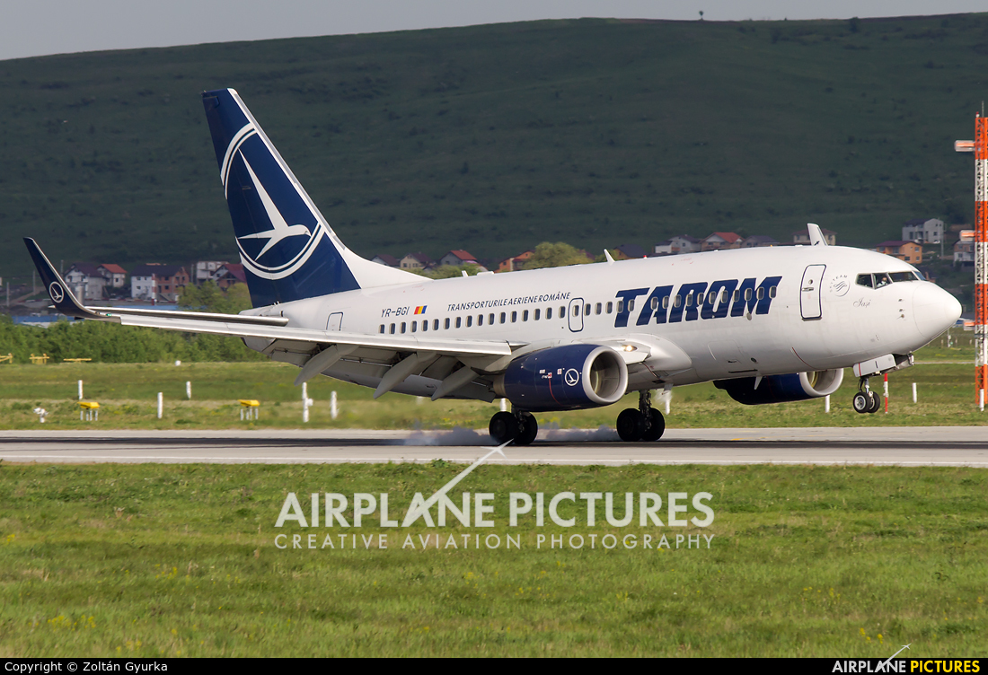 Tarom YR-BGI aircraft at Cluj Napoca - Someseni