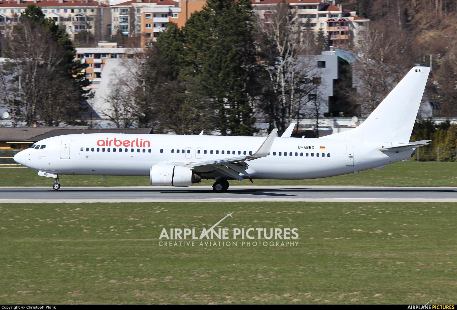 Air Berlin D-ABBD aircraft at Innsbruck