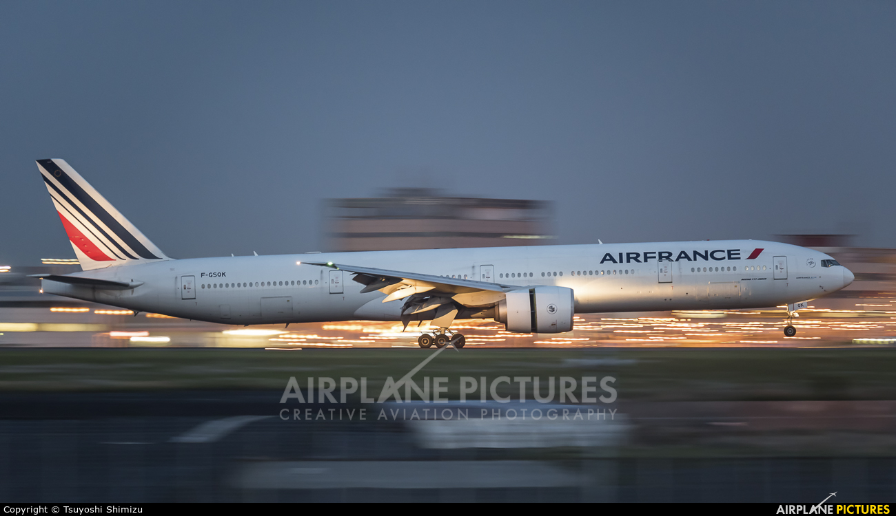 Air France F-GSQK aircraft at Tokyo - Haneda Intl