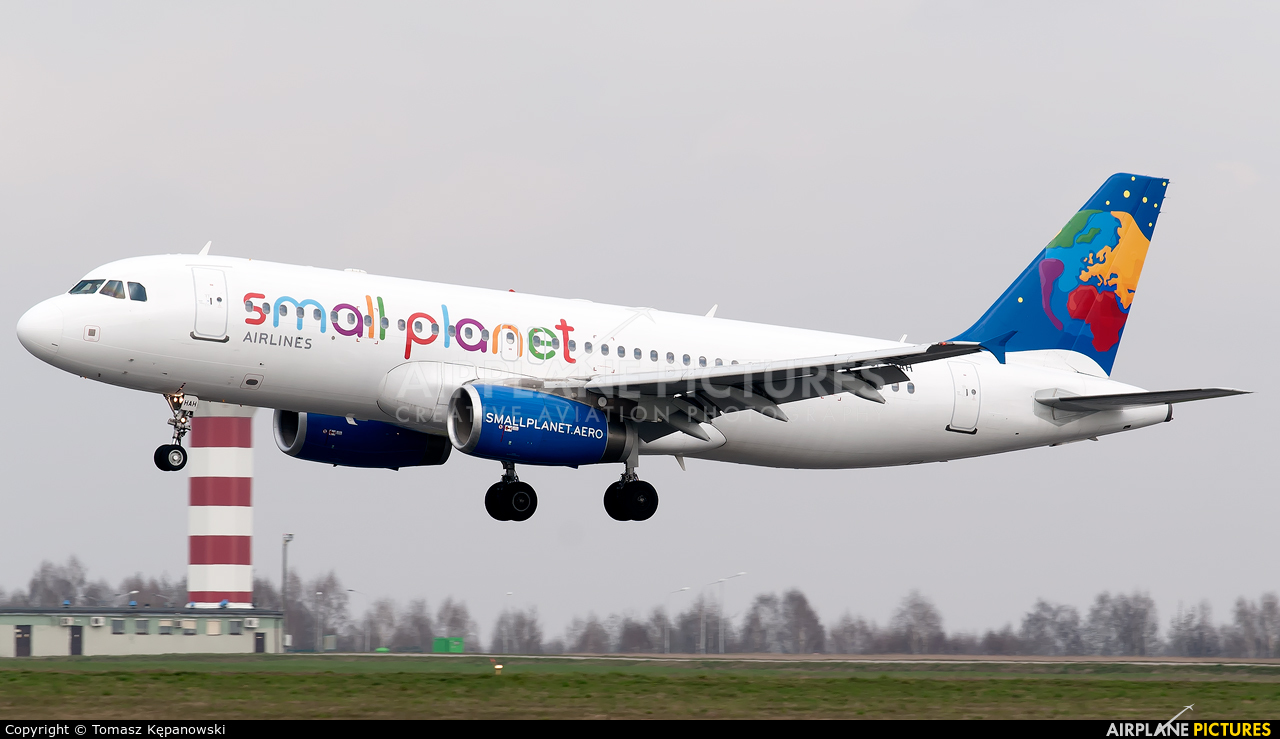 Small Planet Airlines SP-HAH aircraft at Rzeszów-Jasionka
