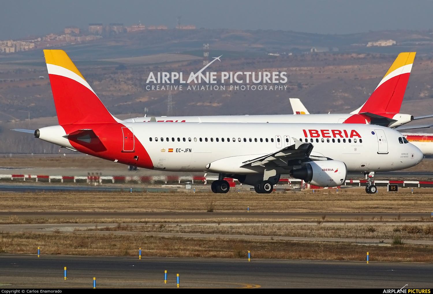 Iberia EC-JFN aircraft at Madrid - Barajas