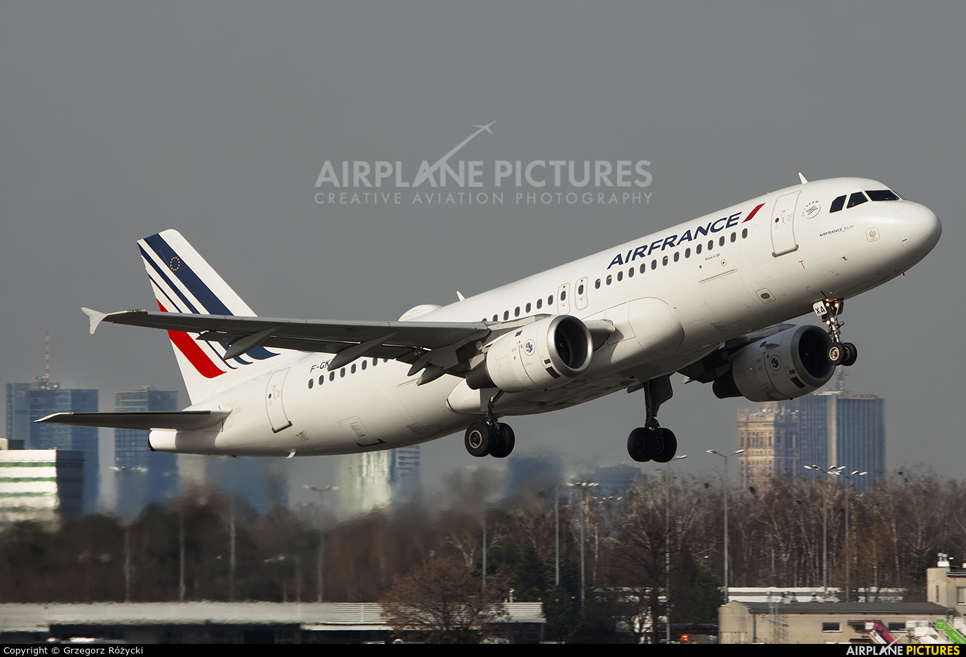 Air France F-GKXA aircraft at Warsaw - Frederic Chopin