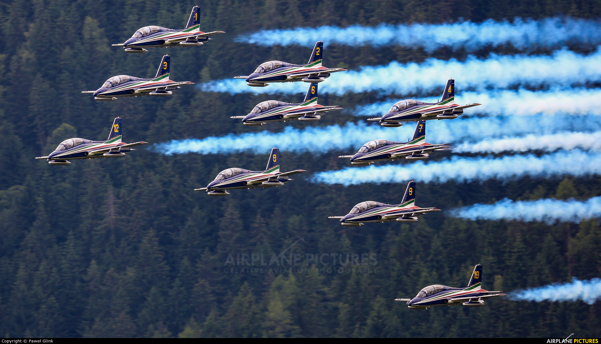 """Italy - Air Force """"Frecce Tricolori"""" MM54517 aircraft at Zeltweg"""