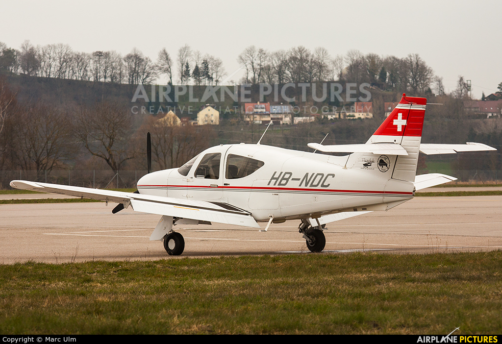 Private HB-NDC aircraft at Augsburg