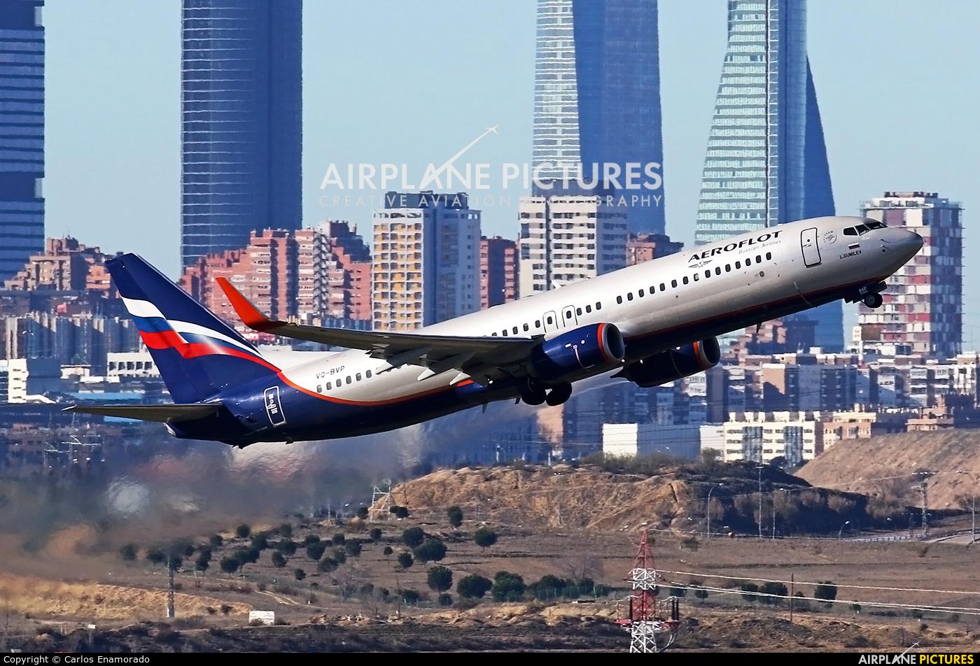 Aeroflot VQ-BVP aircraft at Madrid - Barajas