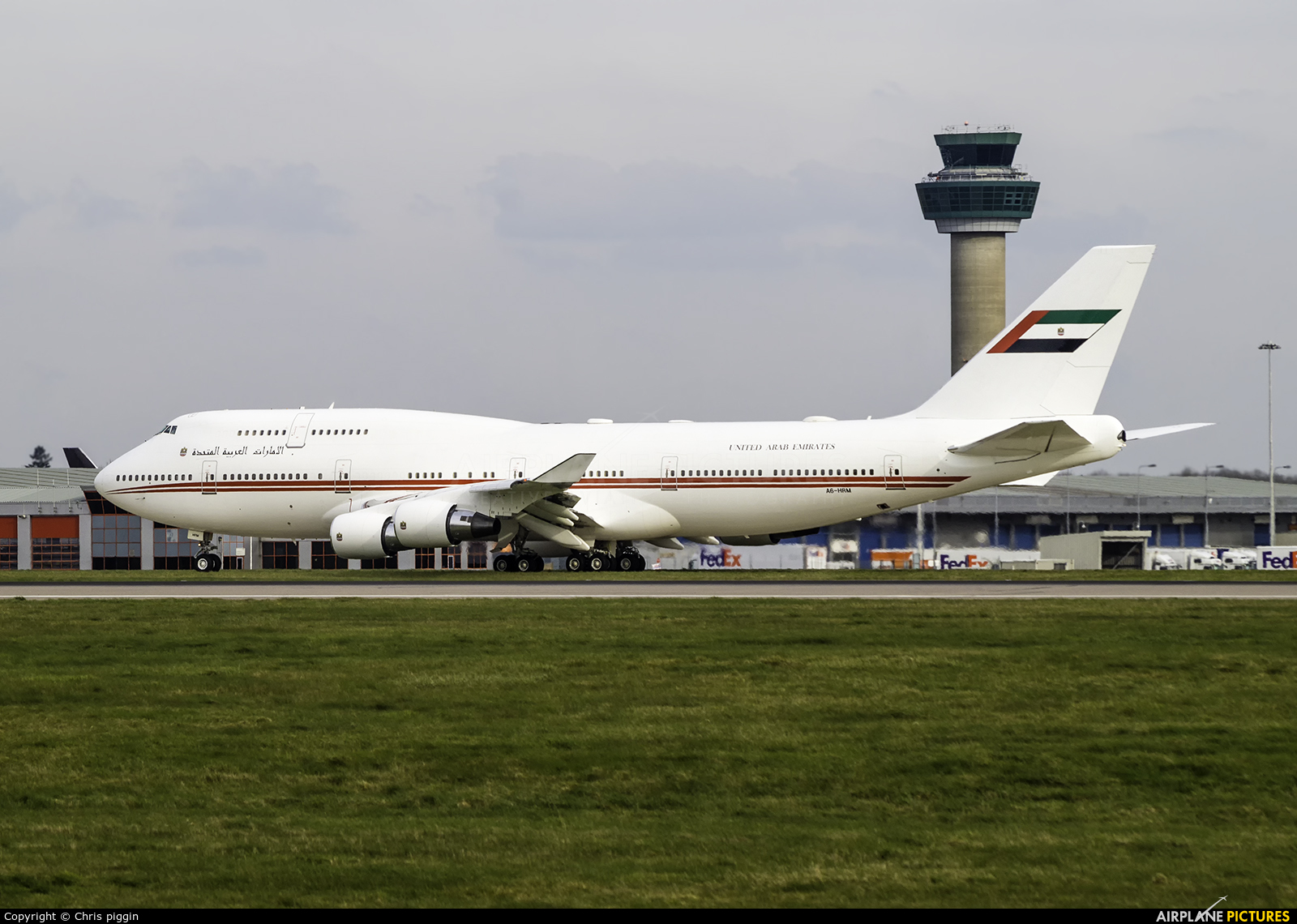 United Arab Emirates - Government A6-HRM aircraft at London - Stansted