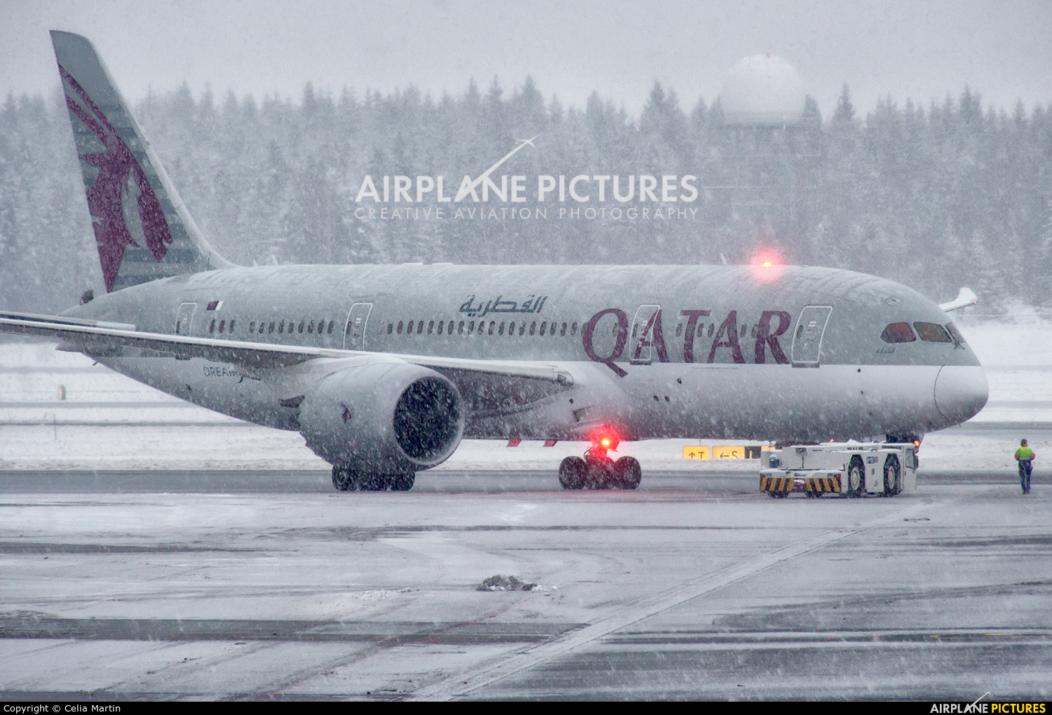 Qatar Airways A7-BCA aircraft at Oslo - Gardermoen