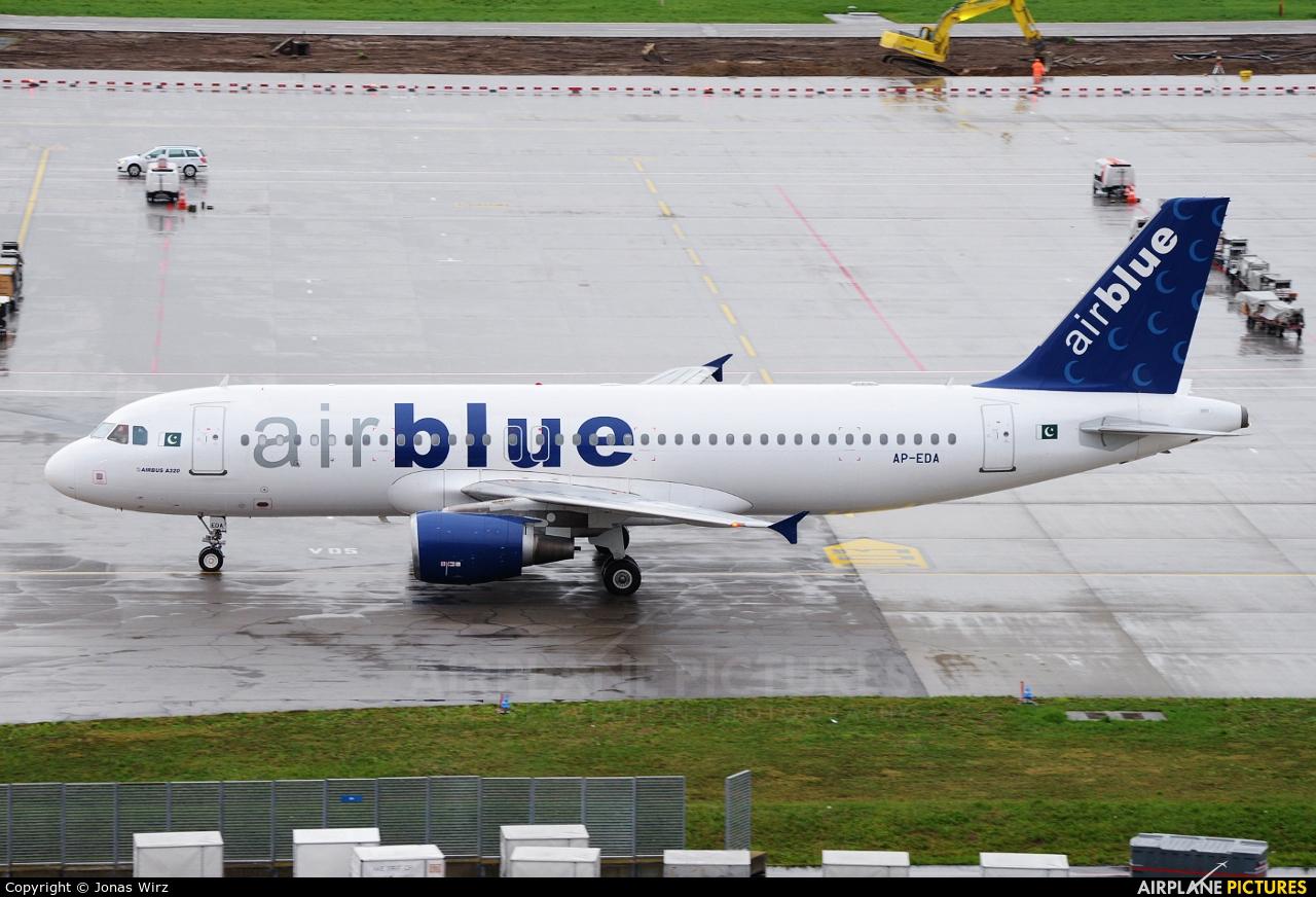 Air Blue AP-EDA aircraft at Zurich