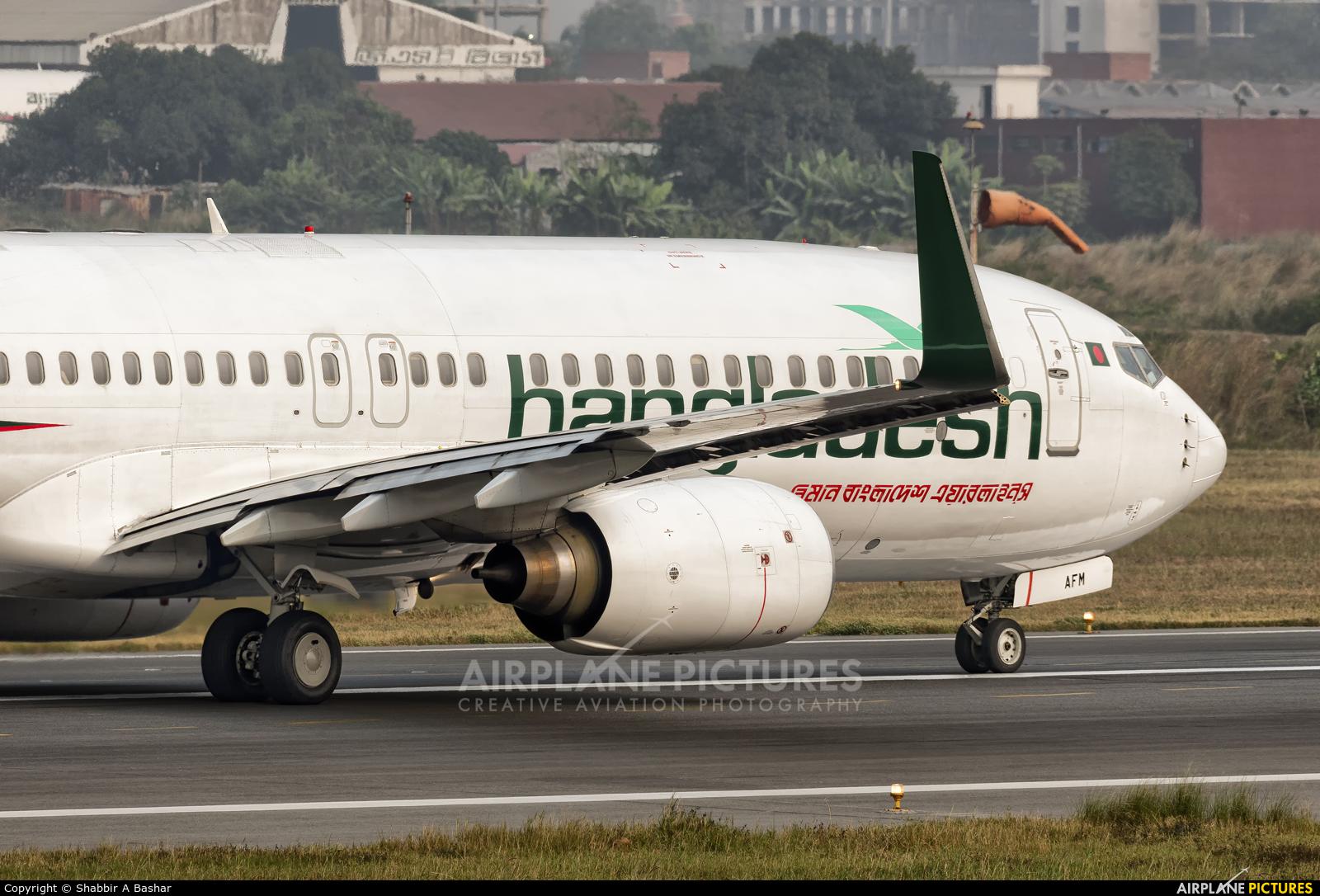 Biman Bangladesh S2-AFM aircraft at Dhaka - Hazrat Shahjala Intl