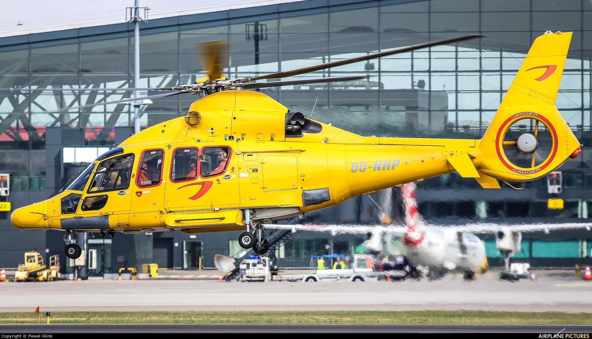 NHV - Noordzee Helikopters Vlaanderen OO-NHP aircraft at Gdańsk - Lech Wałęsa