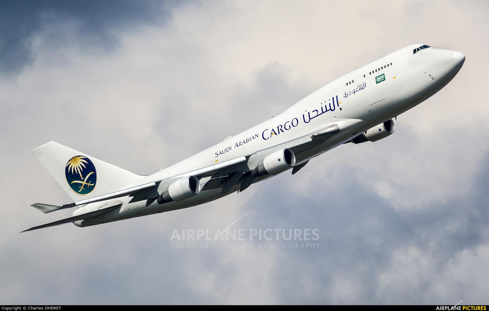 Saudi Arabian Cargo TC-AMF aircraft at Amsterdam - Schiphol