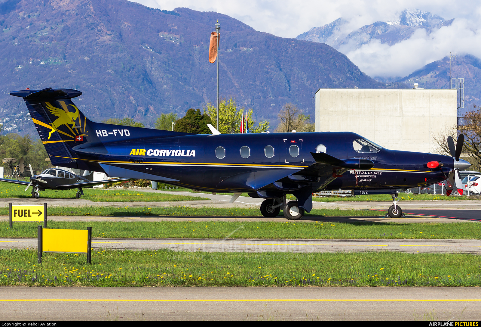 Air Corviglia HB-FVD aircraft at Locarno