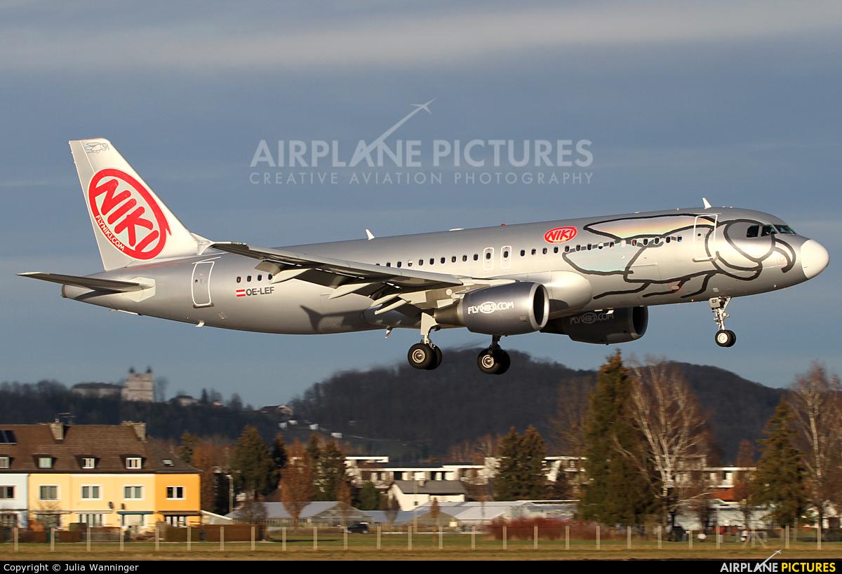 Niki OE-LEF aircraft at Salzburg