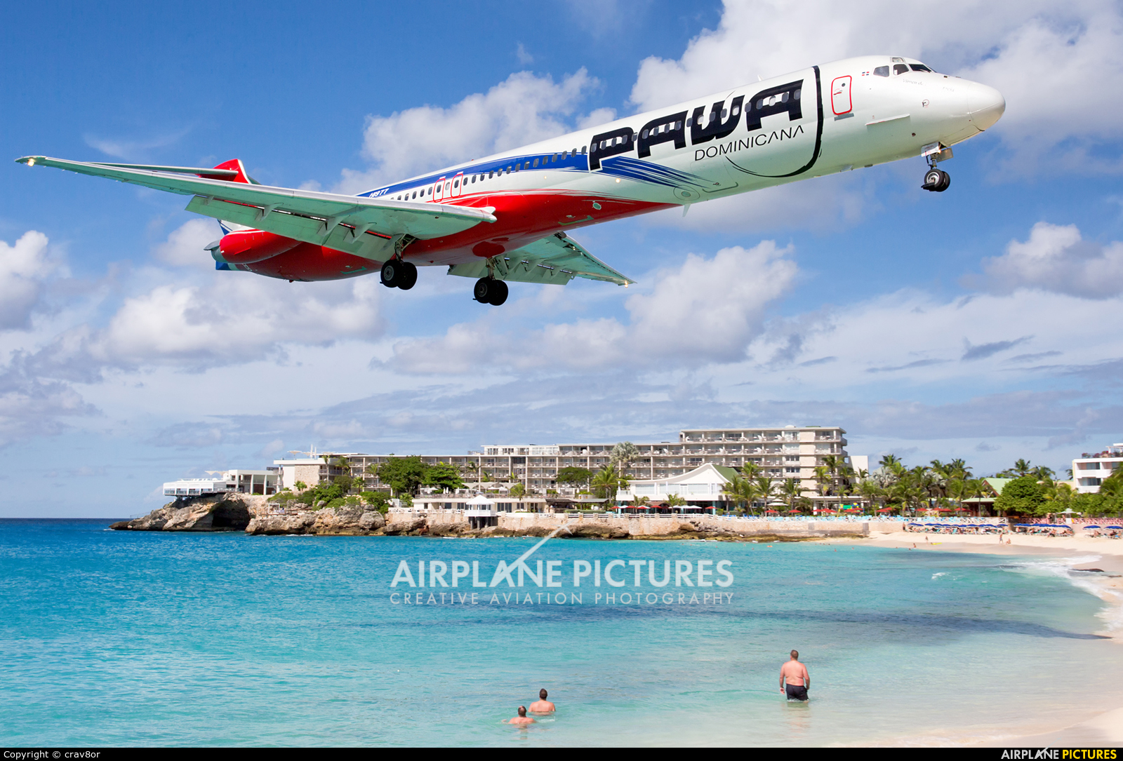 PAWA Dominicana HI977 aircraft at Sint Maarten - Princess Juliana Intl