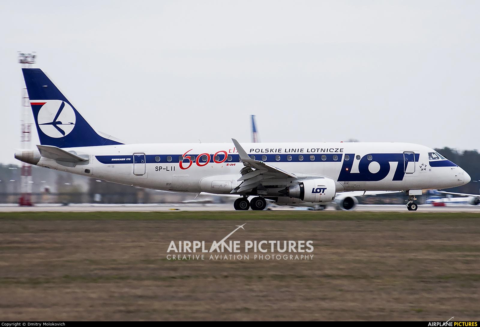 LOT - Polish Airlines SP-LII aircraft at Minsk Intl