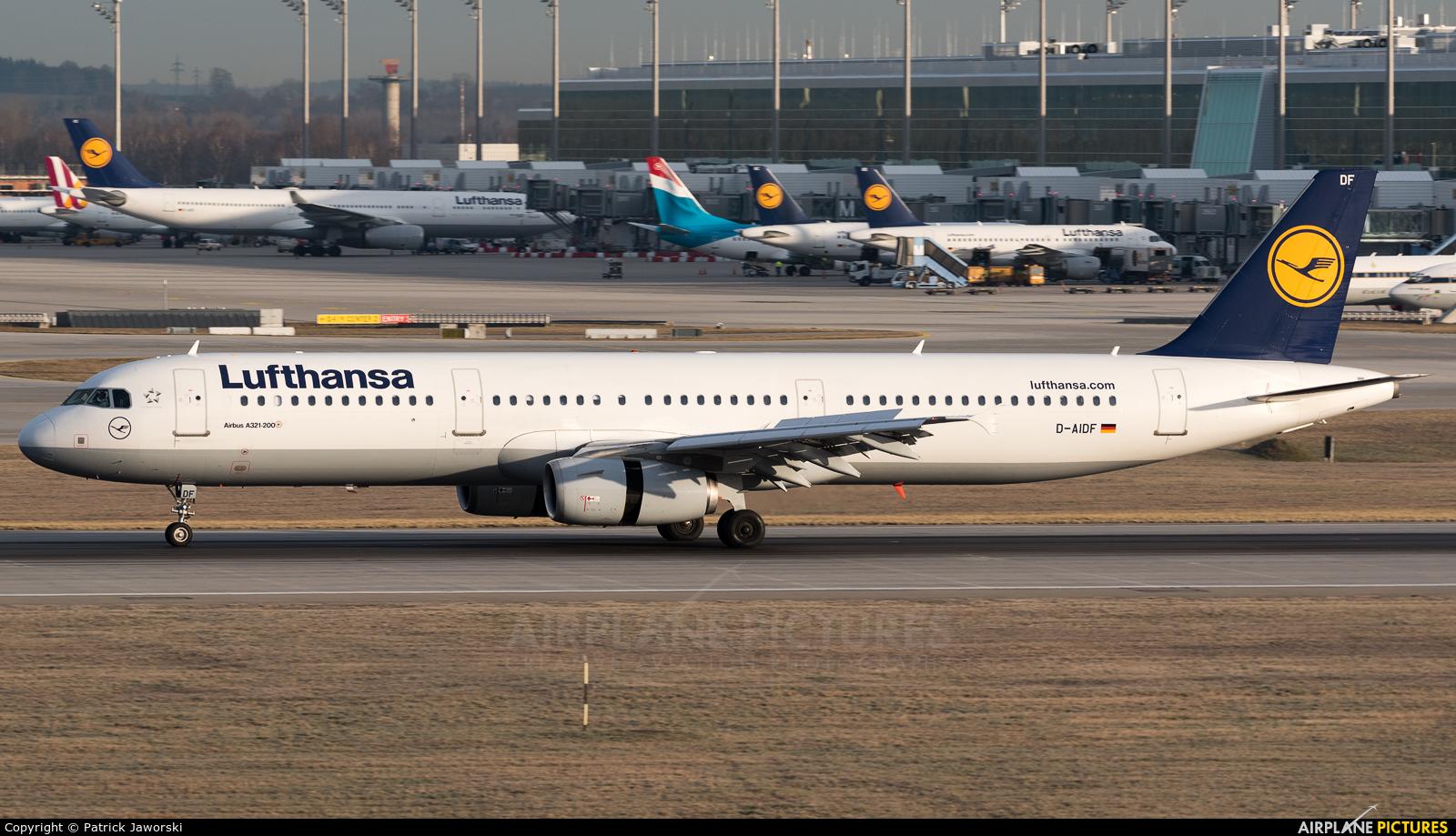 Lufthansa D-AIDF aircraft at Munich