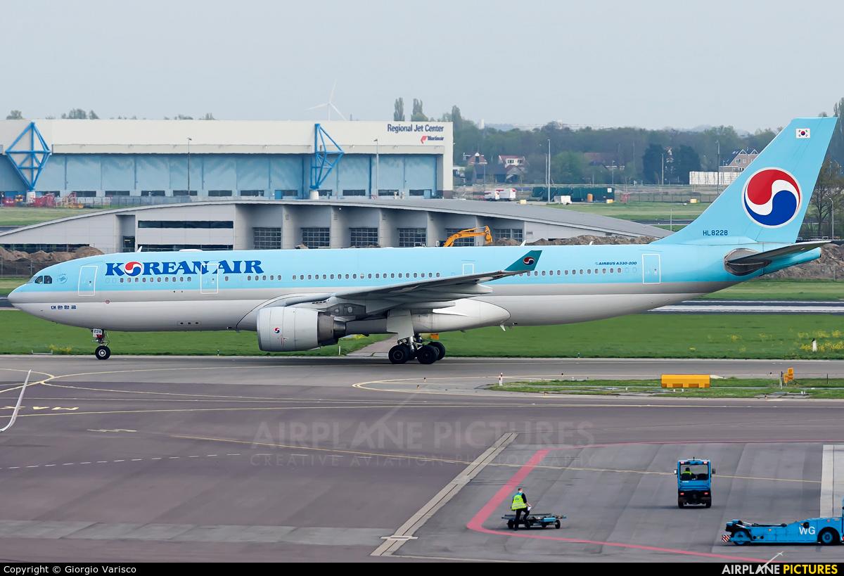 Korean Air HL8228 aircraft at Amsterdam - Schiphol