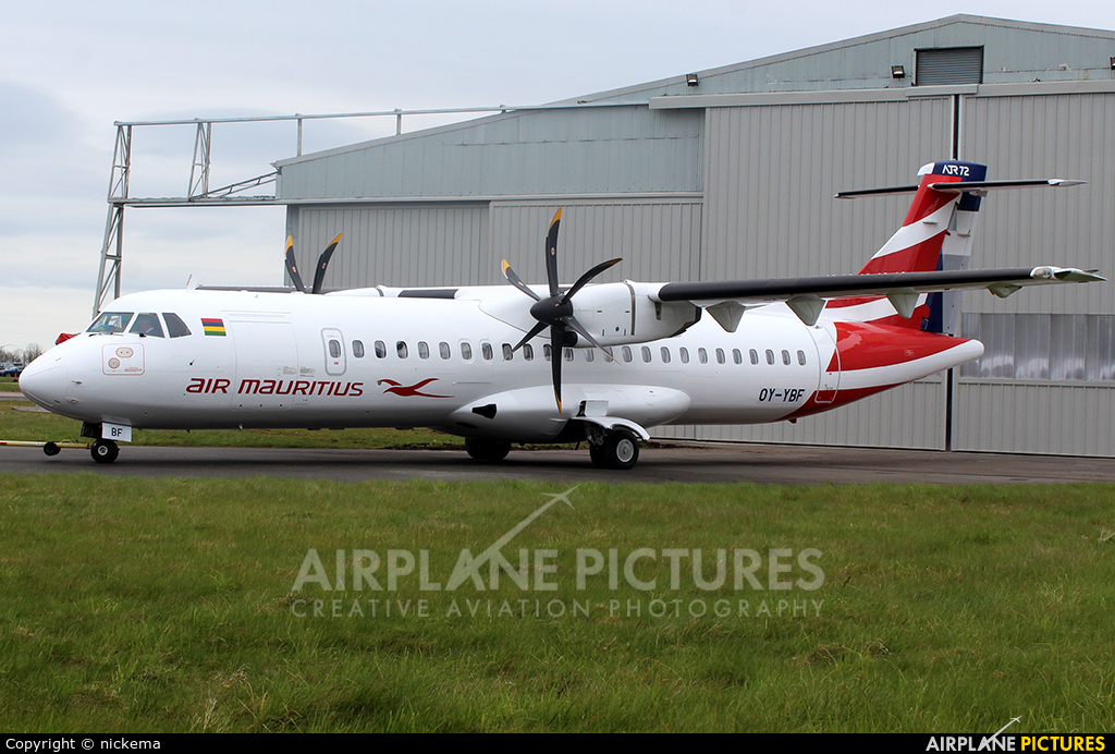 Air Mauritius OY-YBF aircraft at East Midlands