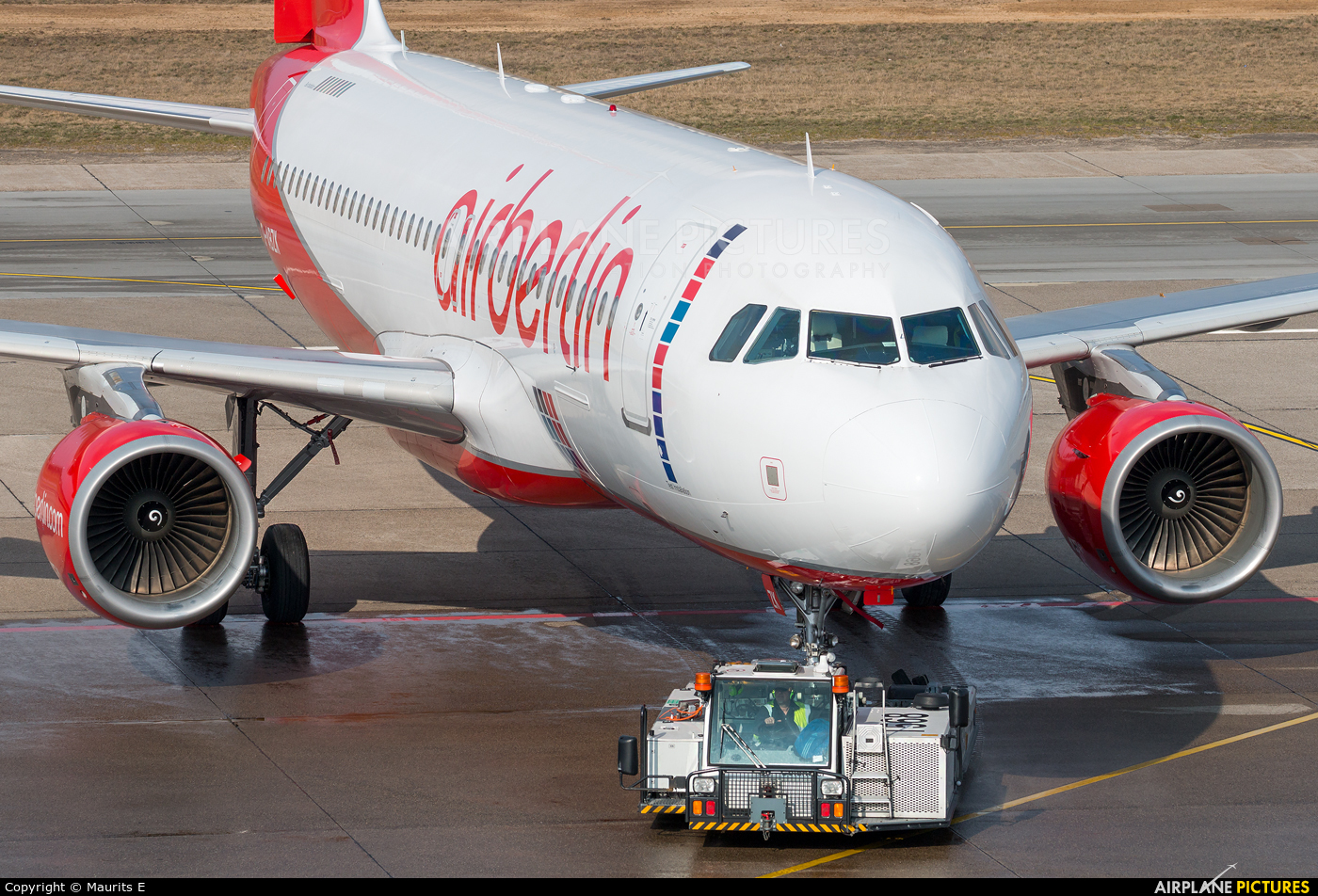 Air Berlin D-ABZK aircraft at Berlin - Tegel