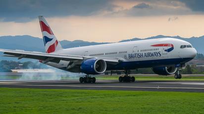 G-YMMS - British Airways Boeing 777-200