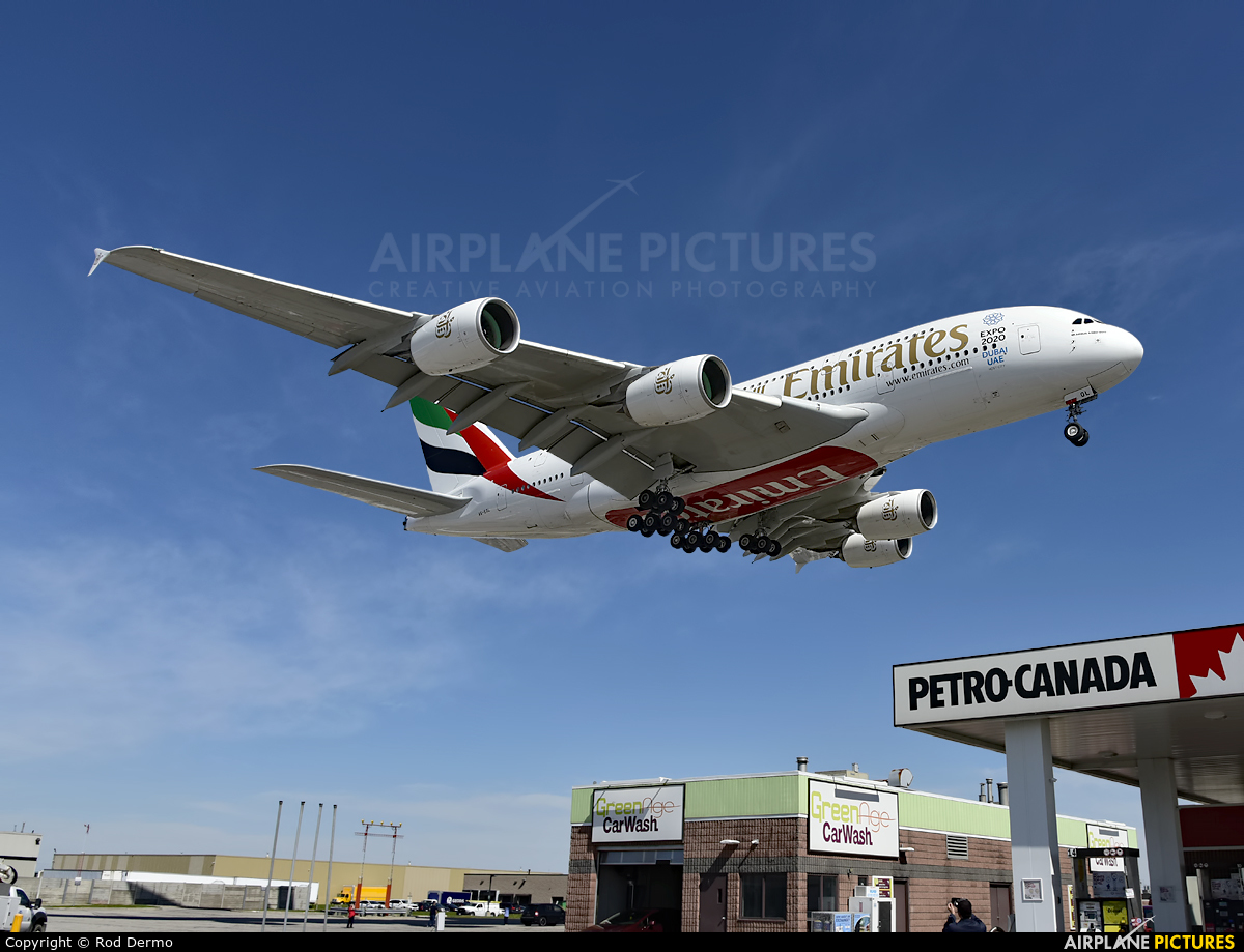 Emirates Airlines A6-EOL aircraft at Toronto - Pearson Intl, ON