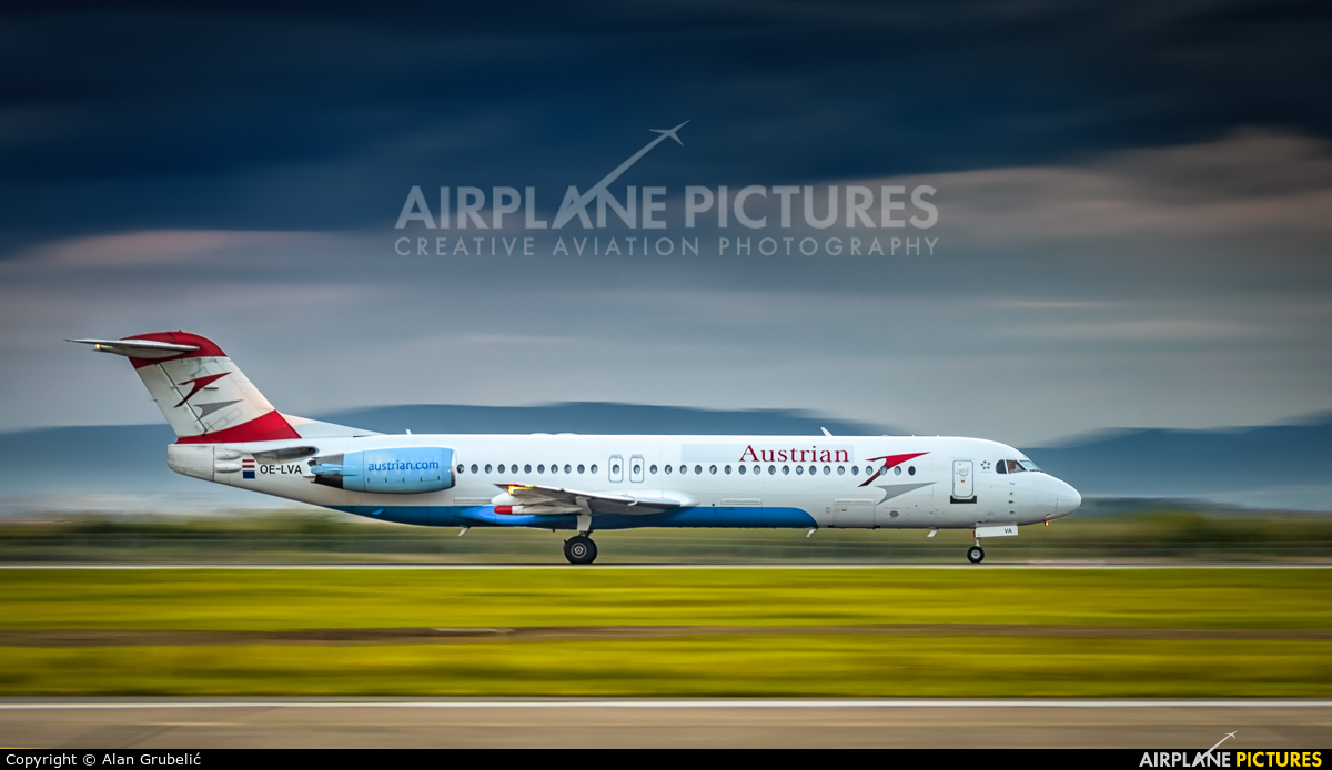 Austrian Airlines/Arrows/Tyrolean OE-LVA aircraft at Zagreb