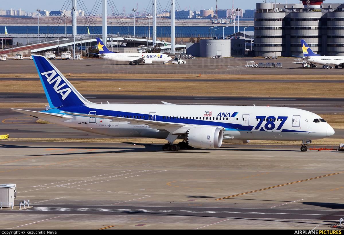 ANA - All Nippon Airways JA814A aircraft at Tokyo - Haneda Intl