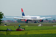 Promotional flight of new airplane for Air Serbia title=