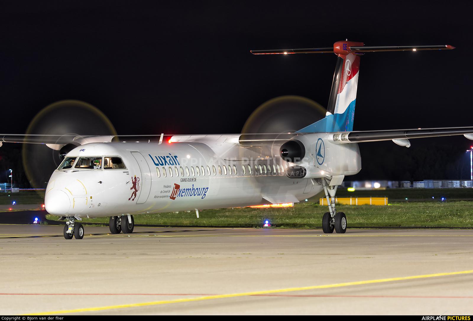 Luxair LX-LGE aircraft at Frankfurt