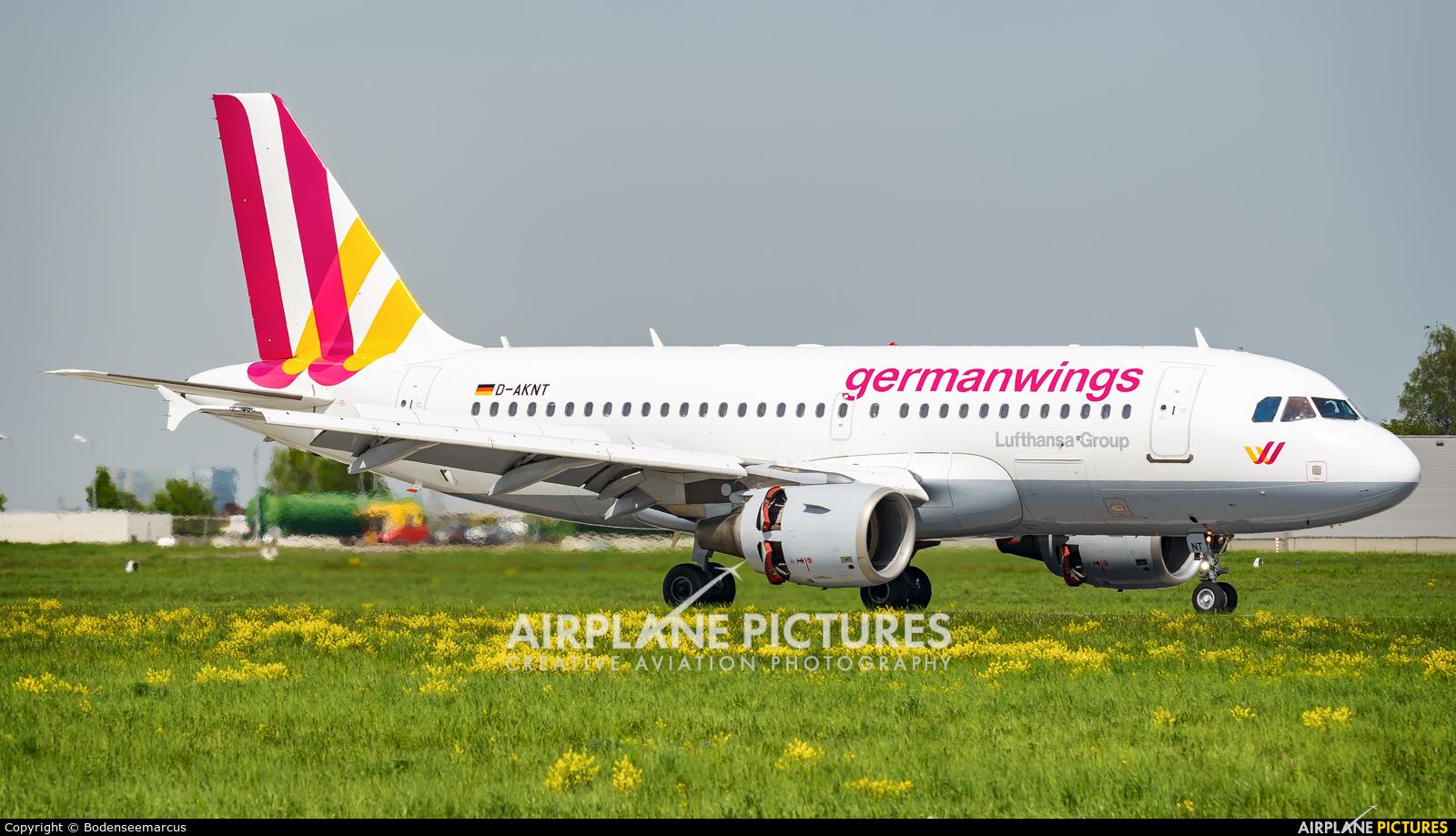 Germanwings D-AKNT aircraft at Stuttgart