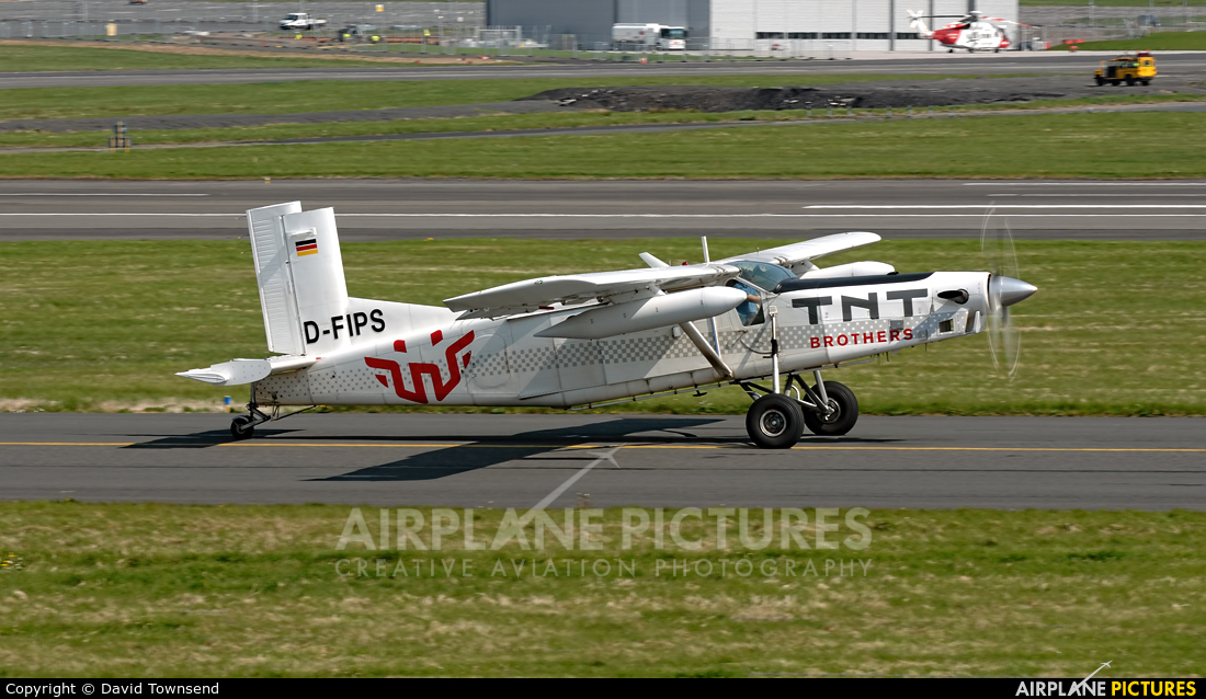 Private D-FIPS aircraft at Prestwick