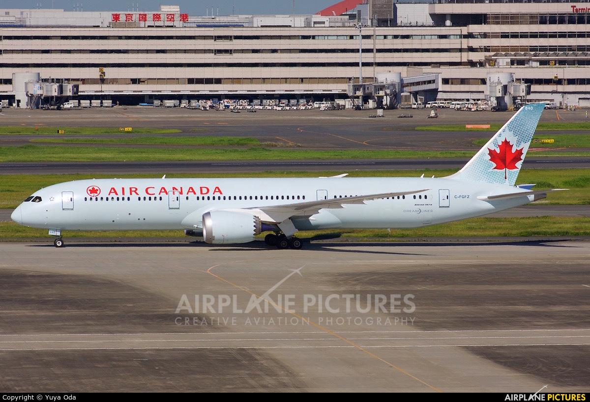 Air Canada C-FGFZ aircraft at Tokyo - Haneda Intl