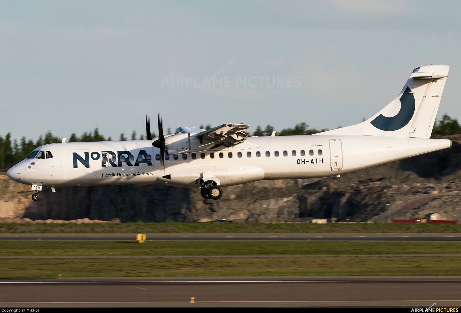 NoRRA - Nordic Regional Airlines OH-ATH aircraft at Helsinki - Vantaa