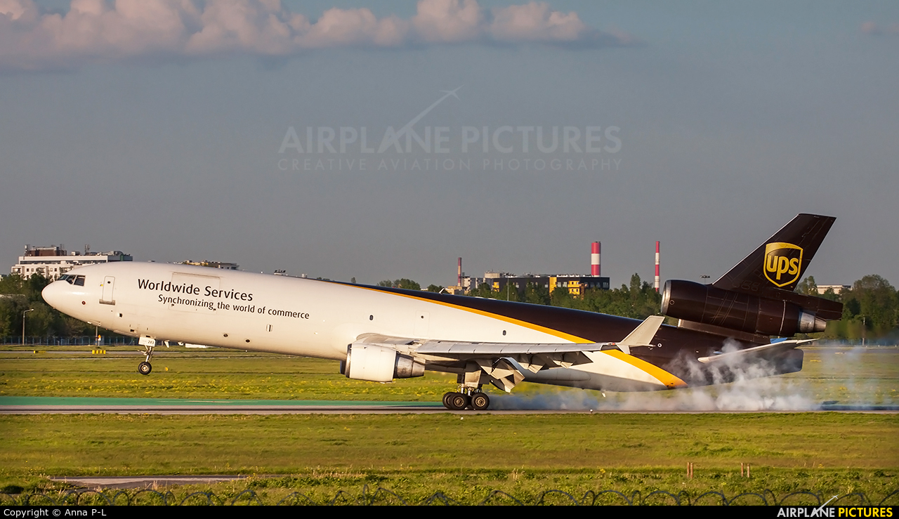 UPS - United Parcel Service N283UP aircraft at Warsaw - Frederic Chopin
