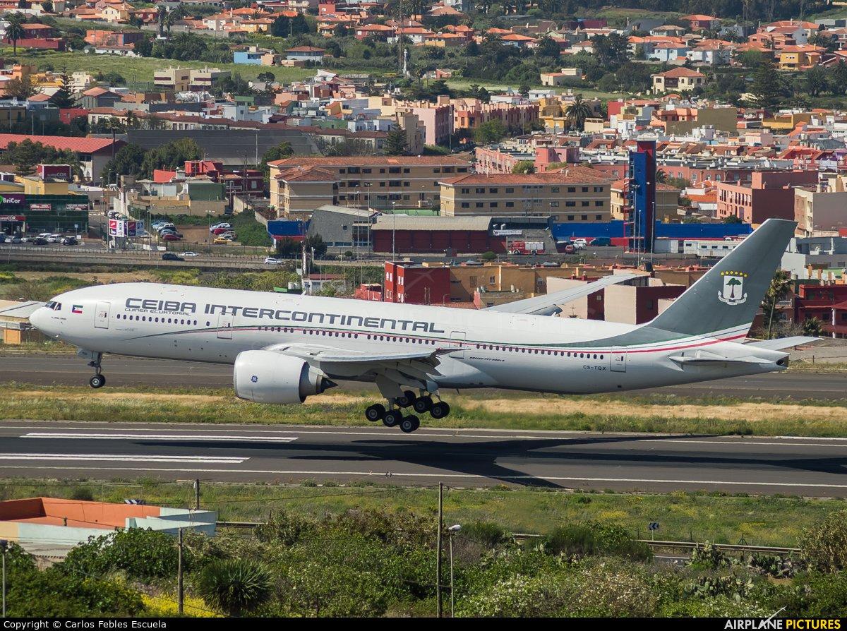 Ceiba Intercontinental CS-TQX aircraft at Tenerife Norte - Los Rodeos