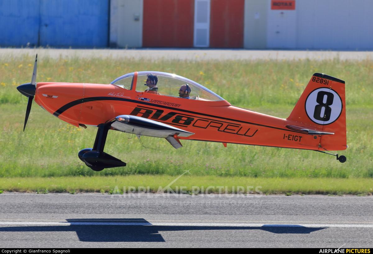Private I-EIGT aircraft at Trento - Mattarello