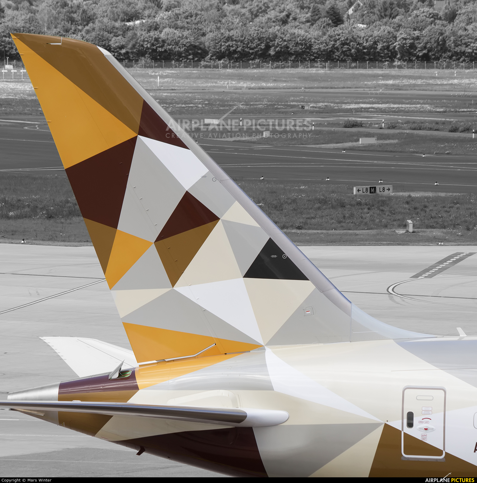 Etihad Airways A6-BLF aircraft at Düsseldorf