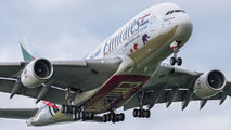 A6-EDG - Emirates Airlines Airbus A380 aircraft