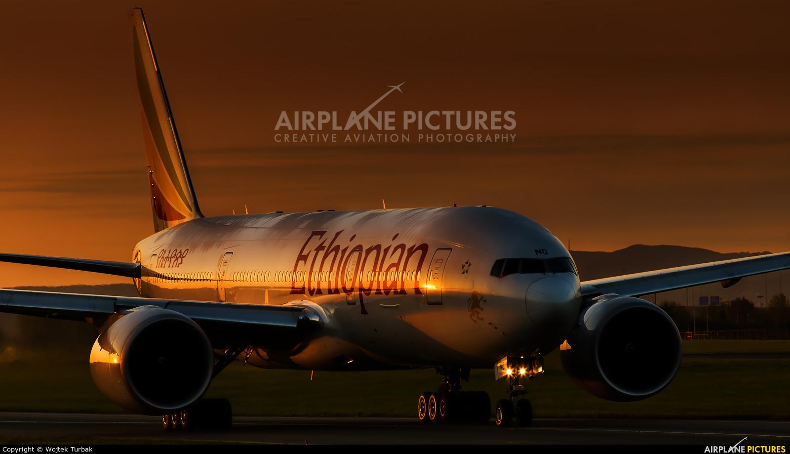 Ethiopian Airlines ET-ANQ aircraft at Dublin