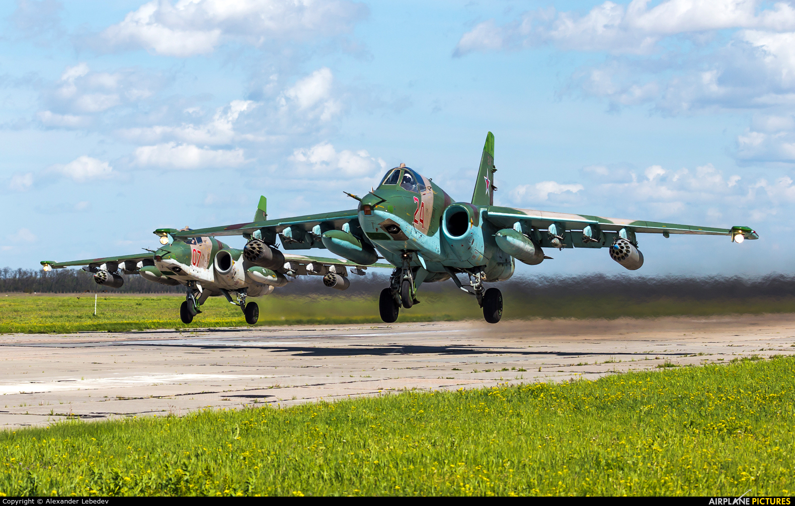 Russia - Air Force 24 aircraft at Primorsko-Akhtarsk